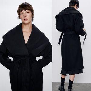 Zara Shawl Collar oversized Coat